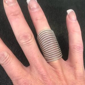 Silver Spiral Knuckle Ring